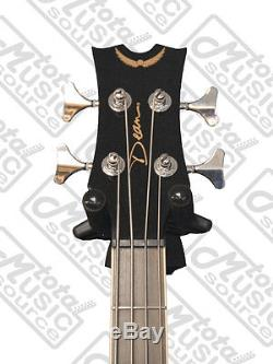 Dean 4 String Acoustic Electric Bass Classic Black FREE TUNER, CLOTH