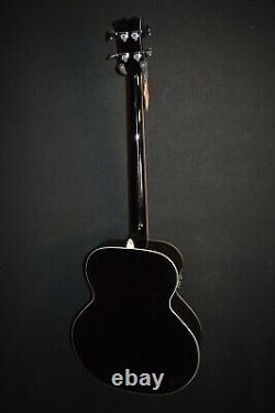 Dean EAB 4 String Classic Black Acoustic Electric Bass Guitar withPreamp/Tuner