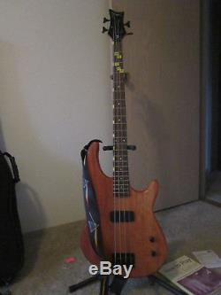 Dean Edge Electric Bass Guitar Gig bag, instruct DVD/Book, tuner, strap, stand