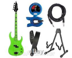Dean Guitars Custom Zone Electric Bass With Tuner, Stand, Strap And Cable