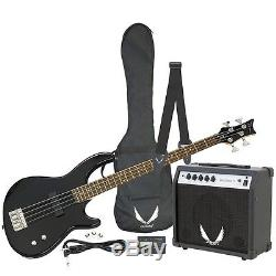 Dean Guitars Edge 09 Beginner Bass Pack Amp Case Tuner Cable Strap Picks Black