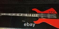 Dean demonator 4 red/black bass guitar