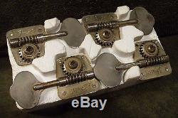 EARLY 1970's FENDER BASS TUNERS, SET OF (4), NICKEL, NICE SHAPE OVERALL