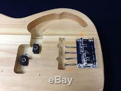 EB-303DIY Electric Bass Guitar DIY Kits withBonus Picks, Digital Tuner