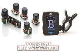 EMG BQS HZ System Passive Mid-Control, EQ, Bass, Treble, Balance, Volume (TUNER)