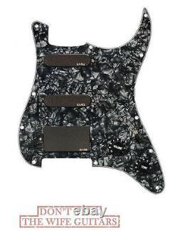 EMG SL20 Steve Lukather SLV + SLV + 85 Pre Wired Black Pearl Pickguard (TUNER)