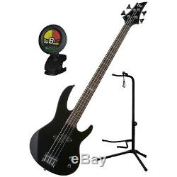 ESP LTD B-10 BLK 4 String Electric Bass Guitar Kit withGig Bag, Stand, and Tuner