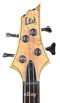 ESP LTD B-204 SM Bass Guitar Spalted Maple Top INCLUDES TUNER, CABLE, & STRAP
