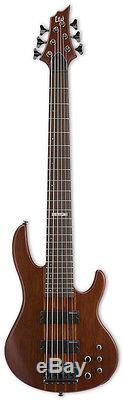 ESP LTD D-6 NS 6-String Bass Guitar Natural Satin INCLUDES CABLE TUNER & STRAP