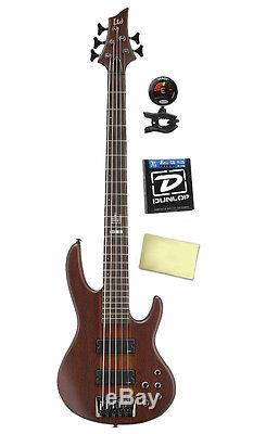 ESP LTD D5 5 String Electric Bass Guitar withTuner, Dunlop Strings and Cloths
