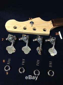 Electric Bass Guitar DIY Kits withBonus Picks, Digital Tuner EB-303DIY