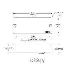 Emg 35hz Black 4 String Passive Soapbar Bass Pickup Set Pots & Wiring (tuner)