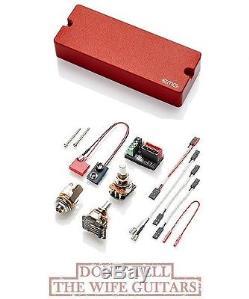 Emg 40dc Red 5 String Bass Soapbar Bass Guitar Pickup 40 DC  Free Dunlop Tuner