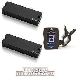 Emg 45dcx Black 6 String Bass Active Soapbar Set (free Guitar Tuner) 45 DCX