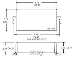 Emg 81 Chrome Active Solderless Humbucker Pickup Short Shaft Pots & Wire (tuner)