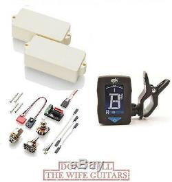 Emg P Bass Ivory Active Fender Replacement Upgrade Pickup (free Guitar Tuner)