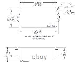 Emg P White Precision Active Solderless P Bass Pickup Pots & Wiring (tuner)