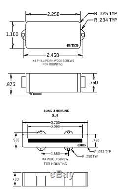 Emg Pj Set Red P & J Bass Active Precision & Jazz Pickup Set & Wiring (tuner)