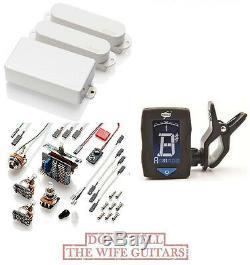Emg Sa / Sa / 85 White Hss Humbucker & 2 Single Coil Strat Pickup Set (tuner)