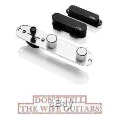 Emg T System Black 2 Active Tele Solderless Telecaster Pickups & Plate (tuner)