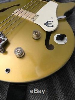 Epiphone Gold Jack Casady Semi-Hollow Bass Guitar with Strap, Tuner And Soft Case