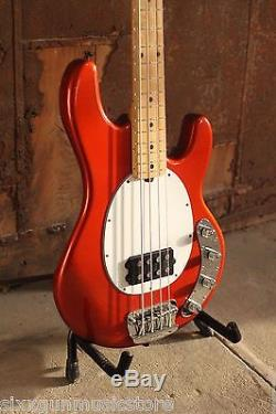 Ernie Ball Musicman USA Stingray 4 Bass, Metallic Tangerine, Hipshot D Tuner