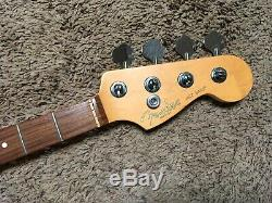 FENDER AMERICAN STANDARD JAZZ BASS NECK & TUNERS Rosewood USA US precision p j