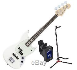 FENDER MUSTANG BASS PJ OWT with Stand and Tuner