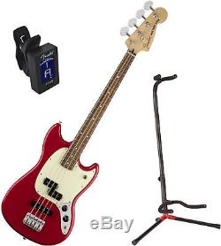 FENDER MUSTANG BASS PJ PF TOR with stand and tuner
