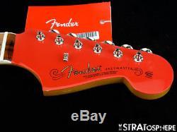 Fender 60th Anniversary Jazzmaster NECK & TUNERS Nitro Block Inlays, Fiesta Red