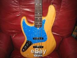 Fender 60th Swamp Ash Jazz Bass, Natural, Mahogany Neck, Hipshot Tuners, Active