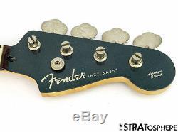 Fender Aerodyne Jazz Bass NECK & TUNERS J Bass Guitar Parts Gunmetal Blue SALE