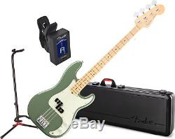 Fender American Pro P Bass w Case MN ATO with Stand and Tuner
