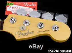 Fender American Standard Precision PJ BASS NECK+ TUNERS USA Bass Guitar Rosewood
