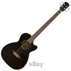 Fender CB-60SCE BLK Solid Spruce Top A/E Bass Guitar with Effin Tuner and More