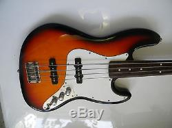 Fender Fretless Jazz Bass Guitar MIM Standard Schaller Tuners Made In Mexico