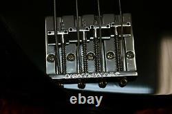 Fender Geddy Lee RUSH Signature Jazz Bass Guitar Black 2006 Japan, Case, Gig Bag
