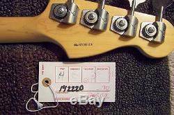 Fender Lefty P-Bass with Hard Case Cables & Zoom 506 Bass effects Pedal / Tuner