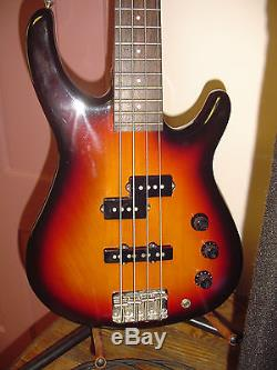 Fender MB-4 Bass Guitar, Crate BX-160 Bass Amp, Tuner, Stand, Cord & Strap