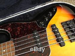 Fender MIM Electric Jazz Bass Guitar WithUpgraded Tuners, Pickups and Bridge