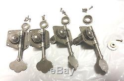Fender Road Worn Jazz or Precision Bass TUNERS TUNING PEGS Relic