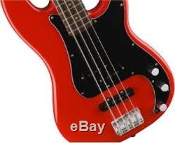 Fender Squier AFFINITY SERIES PRECISION BASS Race Red withTuner & More