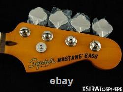 Fender Squier Classic Vibe 60s Mustang Bass NECK & TUNERS Guitar 9.5 Radius