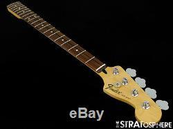Fender Standard JAZZ BASS NECK and TUNERS Bass Guitar 9.5 Radius, Rosewood