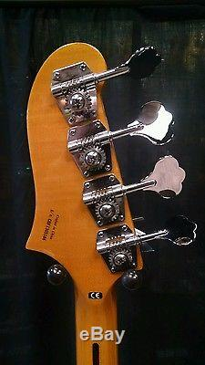 Fender Starcaster Semi-Hollow Bass Guitar WithFREE Tuner & Cable. Black