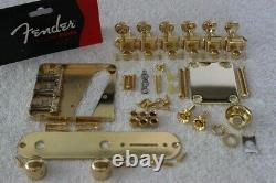 Fender Telecaster Vintage Gold Hardware Set with Tuners Wilkinson Compensated