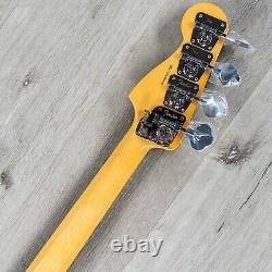 Fender Tony Franklin Fretless Precision Bass, Ebony, Lake Placid Blue