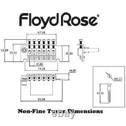 Floyd Rose FRTNFTC Non-Fine Tuner Tremolo System with R3 Nut, Chrome