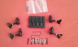 Fodera bass guitar bridge and tuners, used but near mint four string bass