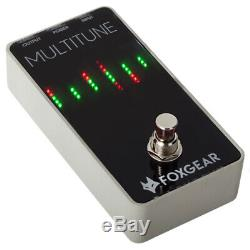 Foxgear Multitune Polyphonic Pedal Tuner for Guitars and Bass Guitars